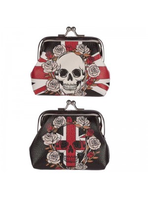 Wholesale Skull and Roses Union Jack Tic Tac Purse