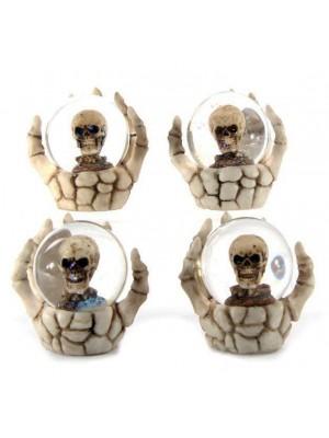 Skull Snow Globe in Skeleton Hand - Assorted