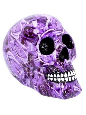 Wholesale Purple Romance Skull Figurine -18 cm