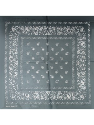 Skull Bandana (Gradient Effect) - Grey & Black