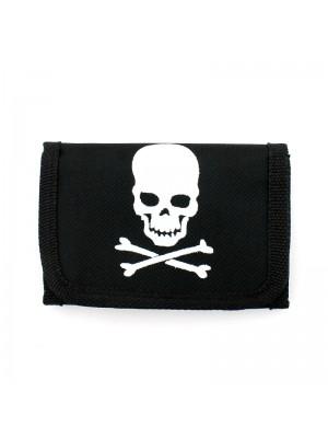 Skull & Crossbone Print Wallet