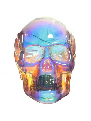 Skull Figurine Ornament with LED Lights