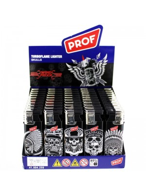Wholesale PROF Turboflame Skulls Family SlideCap Windproof Lighters