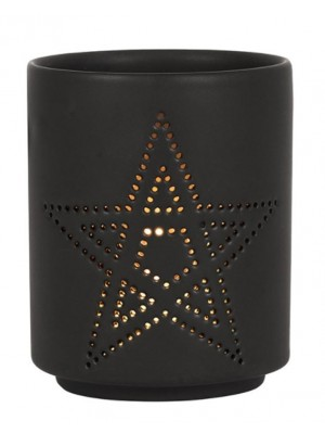 Wholesale Small Black Pentagram Cut Out Tealight Holder