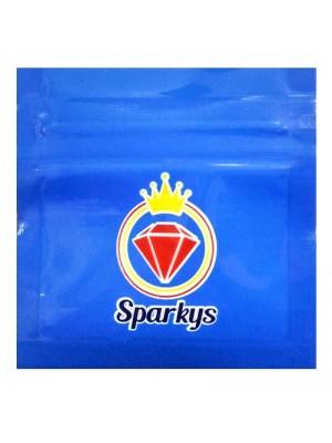 Wholesale Grip Seal Printed Baggies - Sparkys - Blue (60x60mm)
