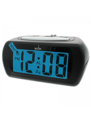 Acctim Auric Alarm Clock - Black