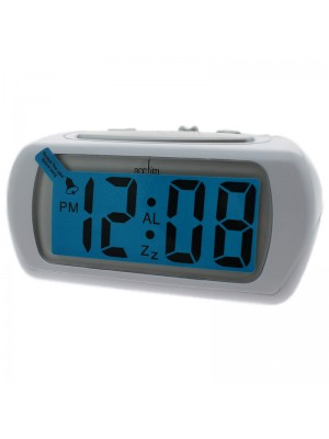Acctim Auric Alarm Clock - White