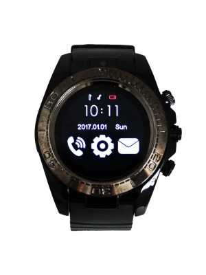 Smart Watch with Silicone Watch Strap - Black