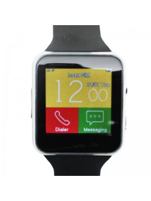 Black Rubber Smart Watch-X6