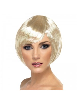 Smiffys Babe Bob Party Wig with Fringe - Blonde