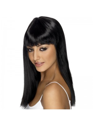 Smiffys Glamourama Party Wig - Black