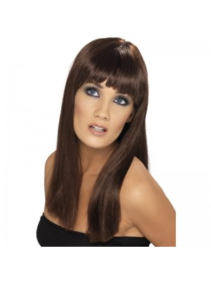 Smiffys Glamourama Party Wig - Brown