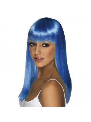 Smiffys Glamourama Party Wig - Neon Blue