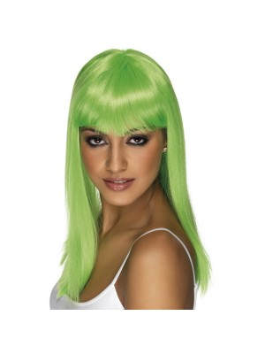Glamourama Party Wig - Neon Green