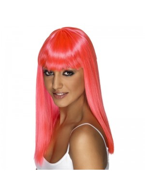 Smiffys Glamourama Party Wig - Neon PInk
