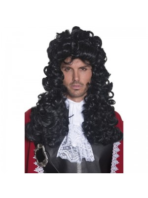 Long Pirate Captain Party Wig - Black
