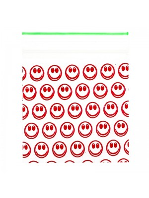 Wholesale Zipper Grip Seal Printed Baggies - Smile (50x50mm)
