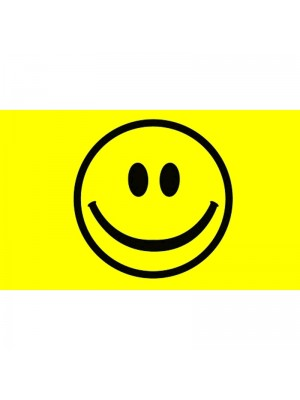 Smiley Face Flag - 5ft x 3ft