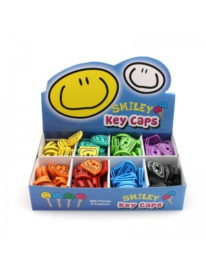 Smiley Face Key Caps - Assorted Colours