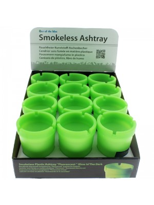 Smokeless-Plastic-Ashtray-Fluorescent-Green-80052