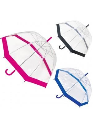 Adults Transparent Dome Umbrellas - Assorted Colours