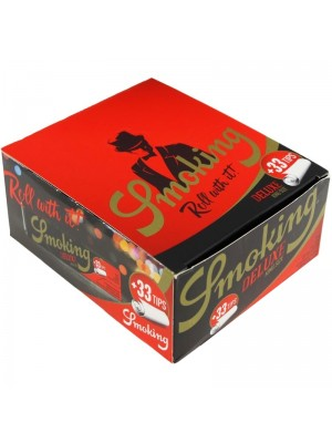 Wholesale Smoking Deluxe King Size Slim Rolling Papers With Filter Tips
