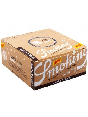 Smoking Thinnest Brown King Size Rolling Papers - Unbleached