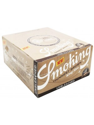 Smoking Thinnest Brown King Size Rolling Papers With Filter Tips - Unbleached