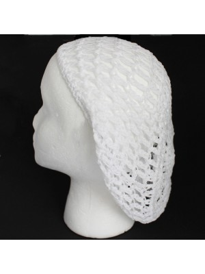Soft Rayon Snood Hat Hair Net- White