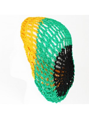 Soft Rayon Snood Hat Hair Net (Black,Green, Yellow)