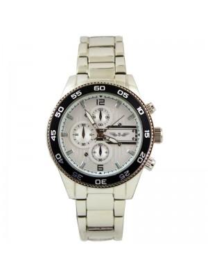 Wholesale Softech Mens 3 Dial Metal Bracelet Fashion Watch - Silver