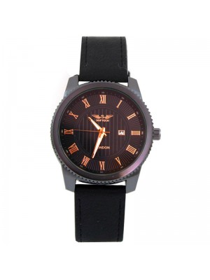 Wholesale Softech Mens Roman Numerical Dial Leather Strap Watch