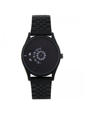 Wholesale Softech Mens Rotating Dial Metal Strap Watch - Black 1