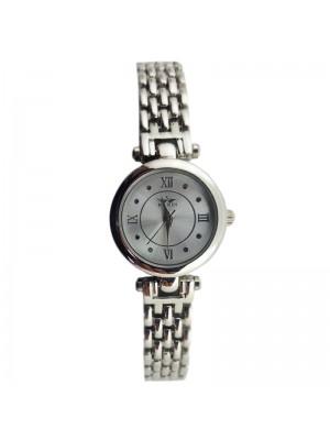 Softech Ladies Round Fashion Watch - Silver