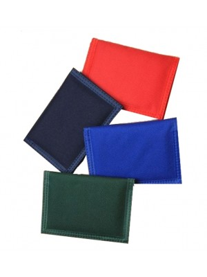 Solid Colour Velcro Wallets - Assorted Colours