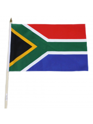 "Wholesale South Africa Hand Flag - 12"" x 18"""