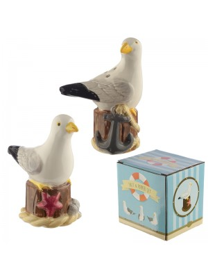 Wholesale Seagull Ceramic Salt and Pepper Set