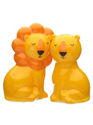 Wholesale Zooniverse Lion Ceramic Salt and Pepper Set
