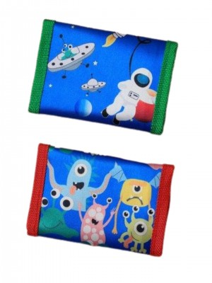Children's Space rocket / monster Design wallet