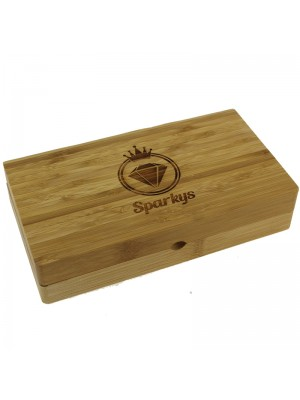 Sparkys Wooden Smoking Rolling Tray with Magnets