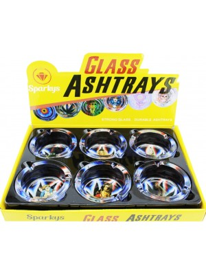 """Wholesale Sparkys Glass """"Girls With Black Leaf"""" Ash-Tray - Assorted"""