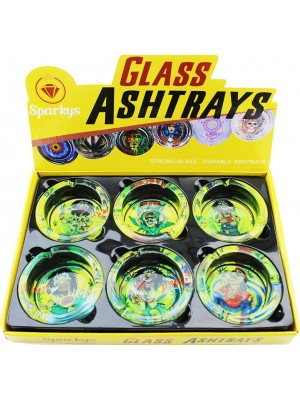 """Wholesale Sparkys Glass """"Rasta"""" Ash-Tray - Assorted"""