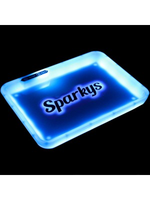 Wholesale Sparkys Glow In The Dark Light Up Rolling Tray - White
