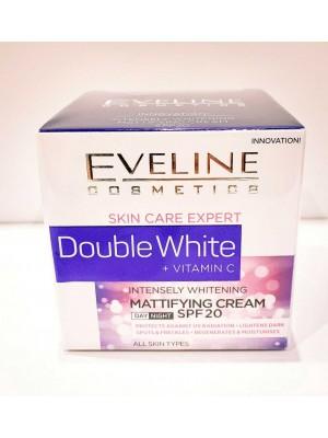 Wholesale Eveline Double White+Vitamin C Mattifying Cream SPF20