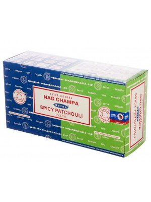 Wholesale Satya incense sticks - Nag Champa & Spicy Patchouli