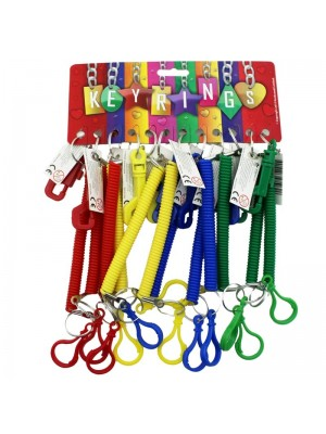 Spiral  Multi-Purpose Keyrings -  Assorted Colours
