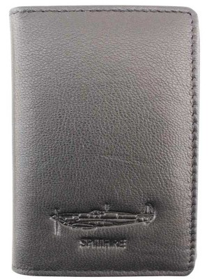 Wholesale Men's Military Heritage Leather Card Wallet - Spitfire