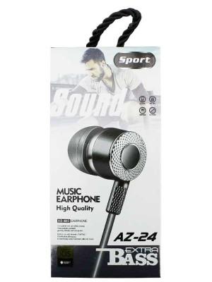 Wholesale Sport Extra Bass High Quality Music Earphone AZ-24 - Assorted Colours
