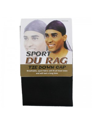 Sport Durag Tie Down Cap - Black