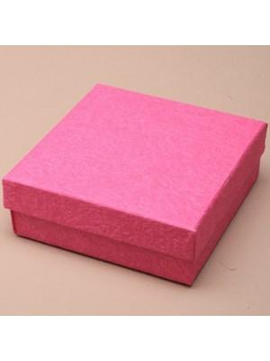 Square Gift Box Fuchsia Pink (9cm x 9cm x 3cm)